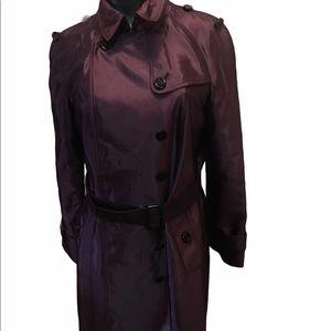 Authentic Burberry Trench Coat Jacket Long plum